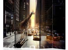 Paraván - Giraffe in the Big City II [Room Dividers]